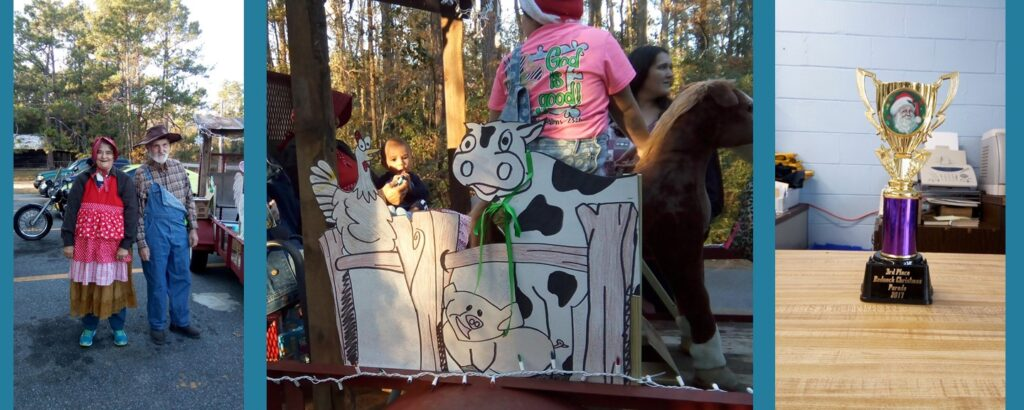 Library Float won 3rd Place in the Hosford Christmas Parade