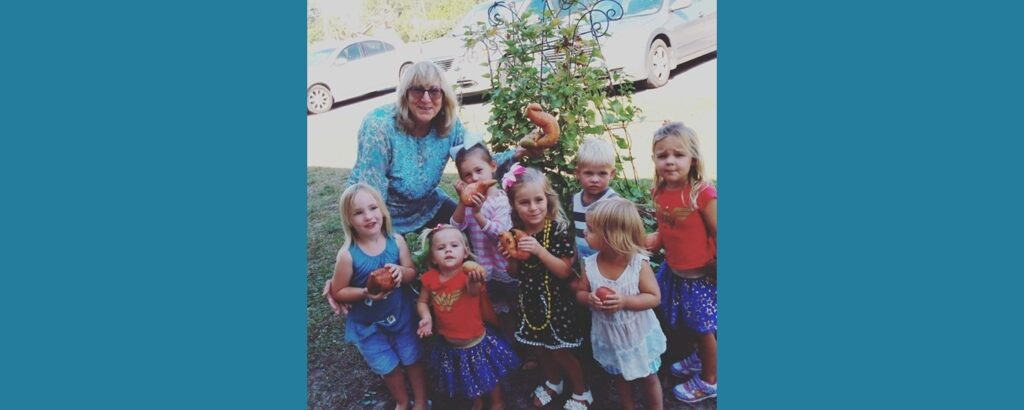 Storytime with Sweet Potato Harvest from the Garden