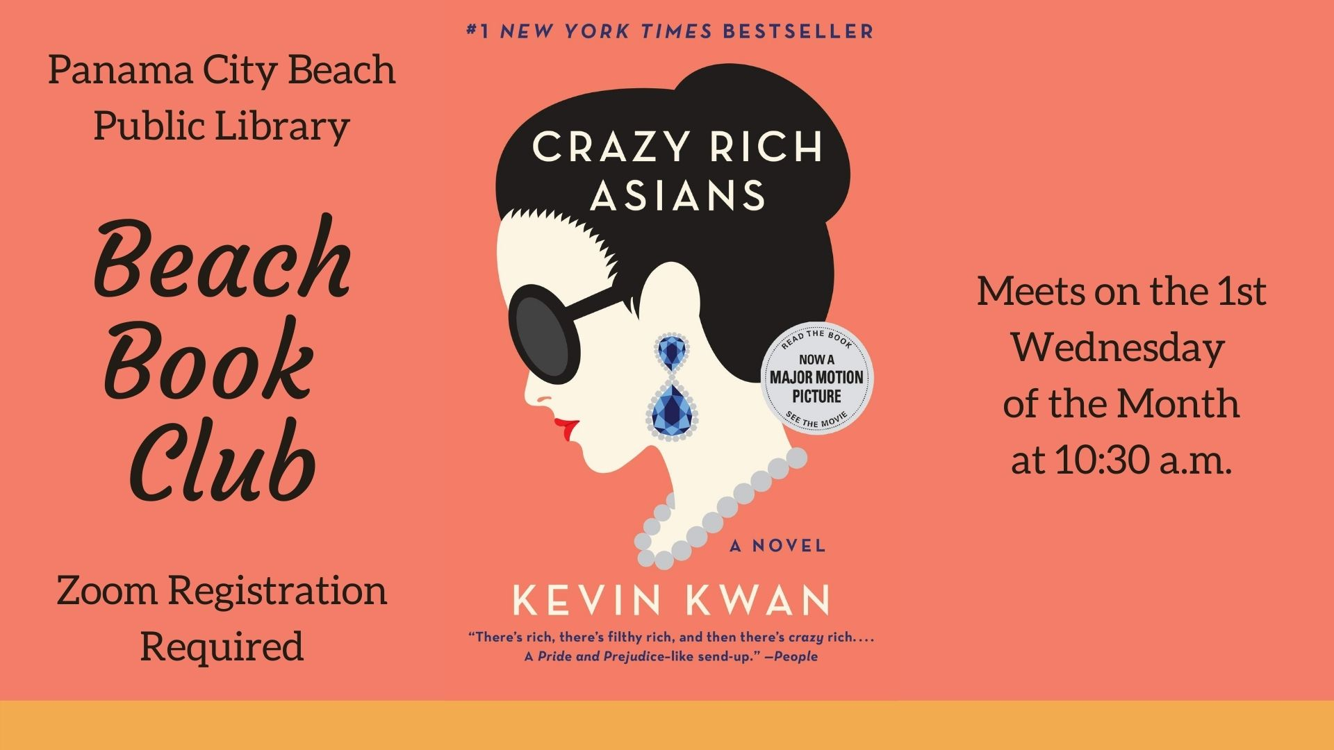 October Book Club read is Crazy Rich Asians by Kevin Kwan