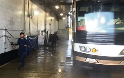 Washing the bus…. The easy way!