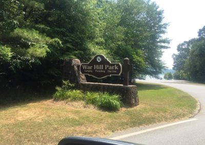 War Hill Park -Sign