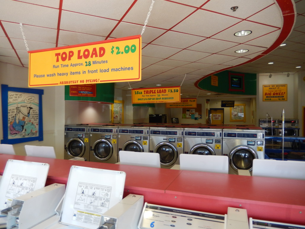 Store overview at Walden Square Laundromania West Iowa City