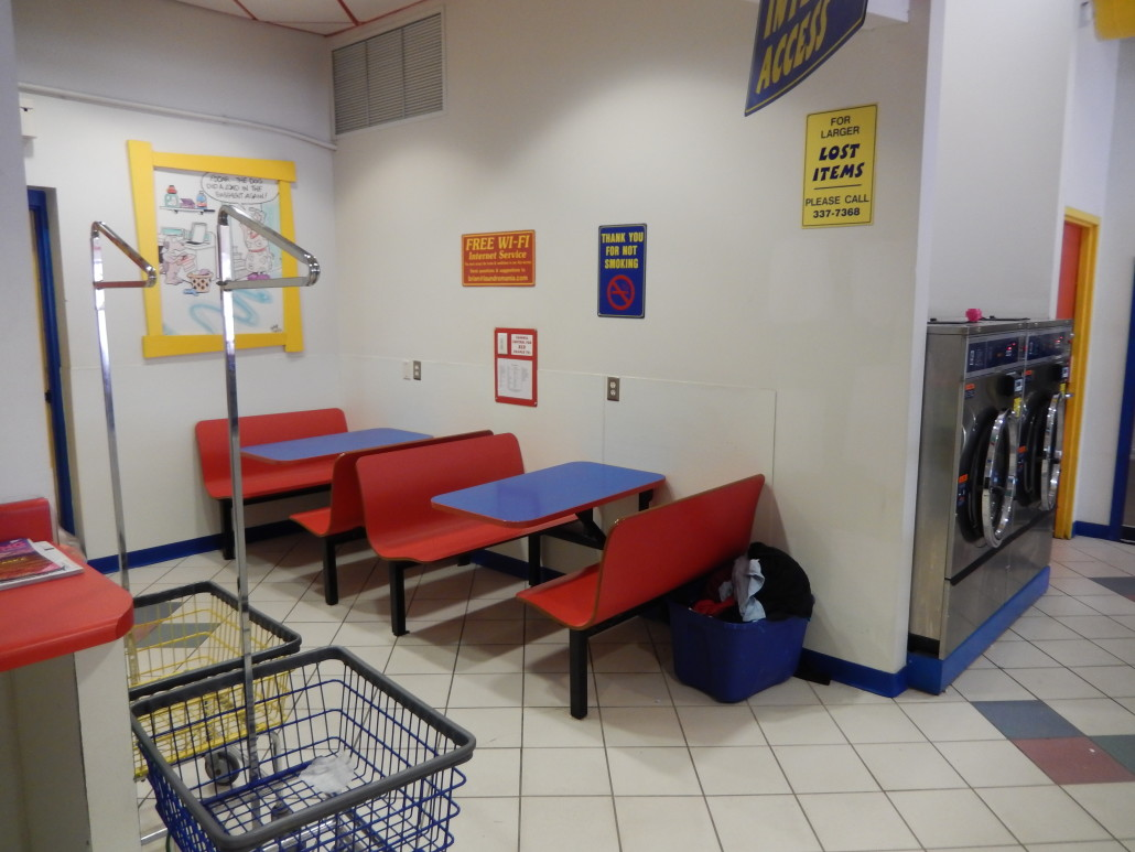Tables at Walden Square Laundromania West Iowa City