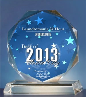 Voted Best Laundromat in Iowa City in 2013.