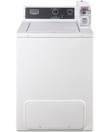 Top loading coin-operated washing machine