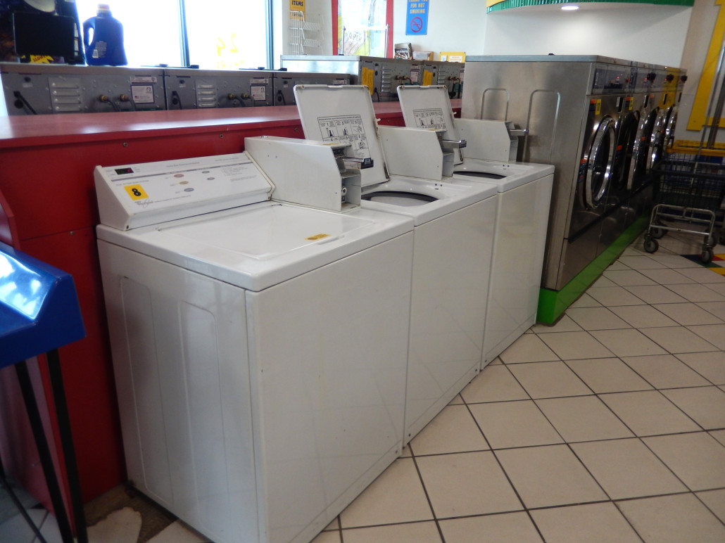 Top load washing machines at Laundromania at sycamore mall in Iowa City