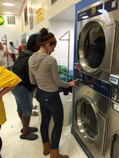 Using the Dryer System at Laundromania in Davenport, Iowa