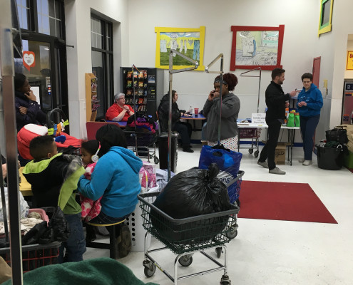 Laundry time at Free Laundry Event on Wednesday March 2nd at Laundromania in Davenport, Iowa