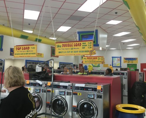 Free laundry event at Laundromania in Davenport Iowa on Wednesday, Aug 3rd 2016 2