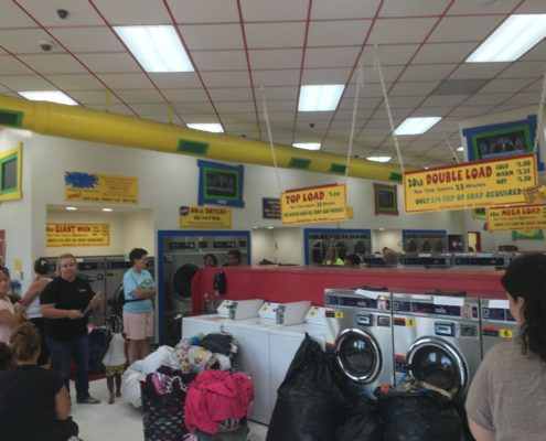 Free laundry event at Laundromania in Davenport Iowa on Wednesday, Aug 3rd 2016