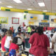 Lots of people at Laundry Love QC Free Laundry Washing Event in Davenport, Iowa in September