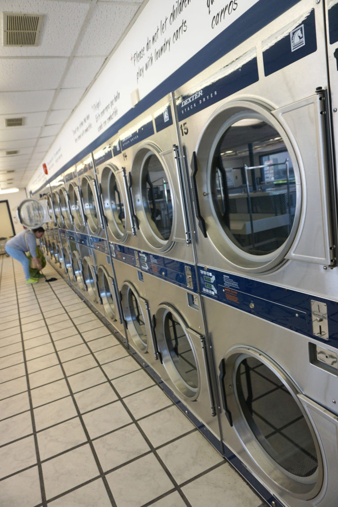30lb front load dryers at Laundromania in Coralville, Iowa