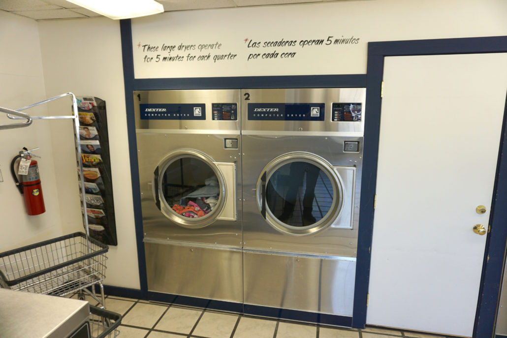 50lb Dexter thoroughbred 50 Express dyers inside Coralville Laundromania 24 hour Laundromat The old Spin City Laundry