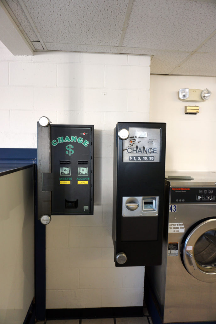 Change machines at Laundromania Coralville 24 hour Laundromat