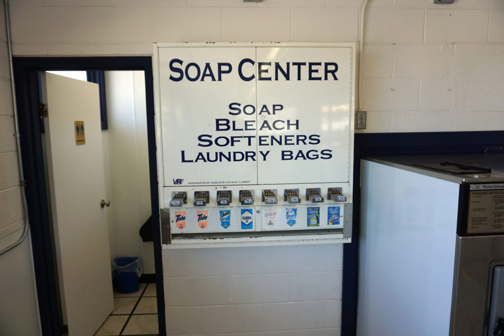 Soap Center inside Laundromania Coralville 24 hour Laundromat