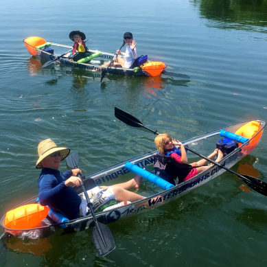 Family fun on our Clear Kayaks