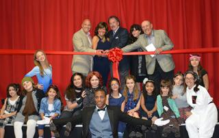 Landrum Showcase Theater Ribbon Cutting Ceremony with cast of Annie Whitestone NY