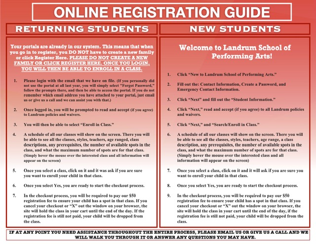 Landrum - Online Registration Guide