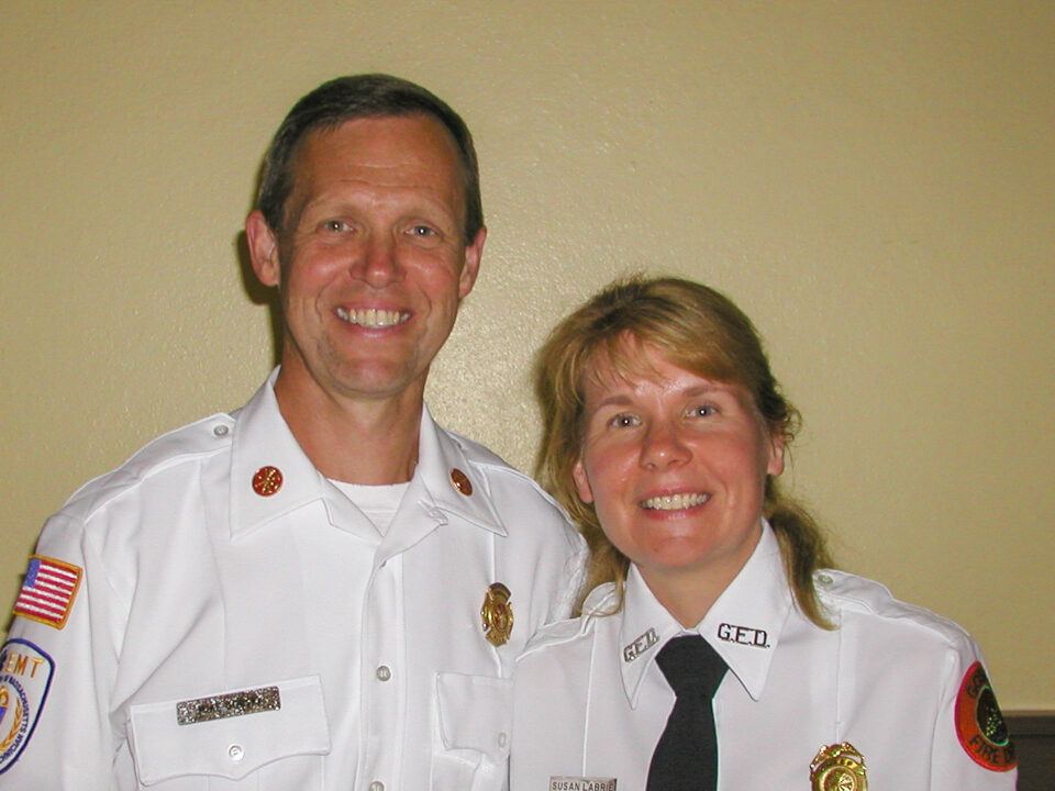 Chief Michael Gorski and Susan Labrie