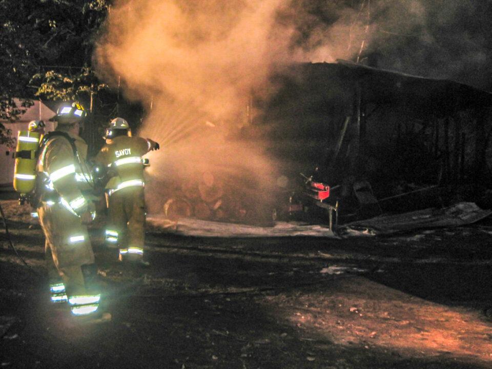 Bush Road Fire, Cummington, MA