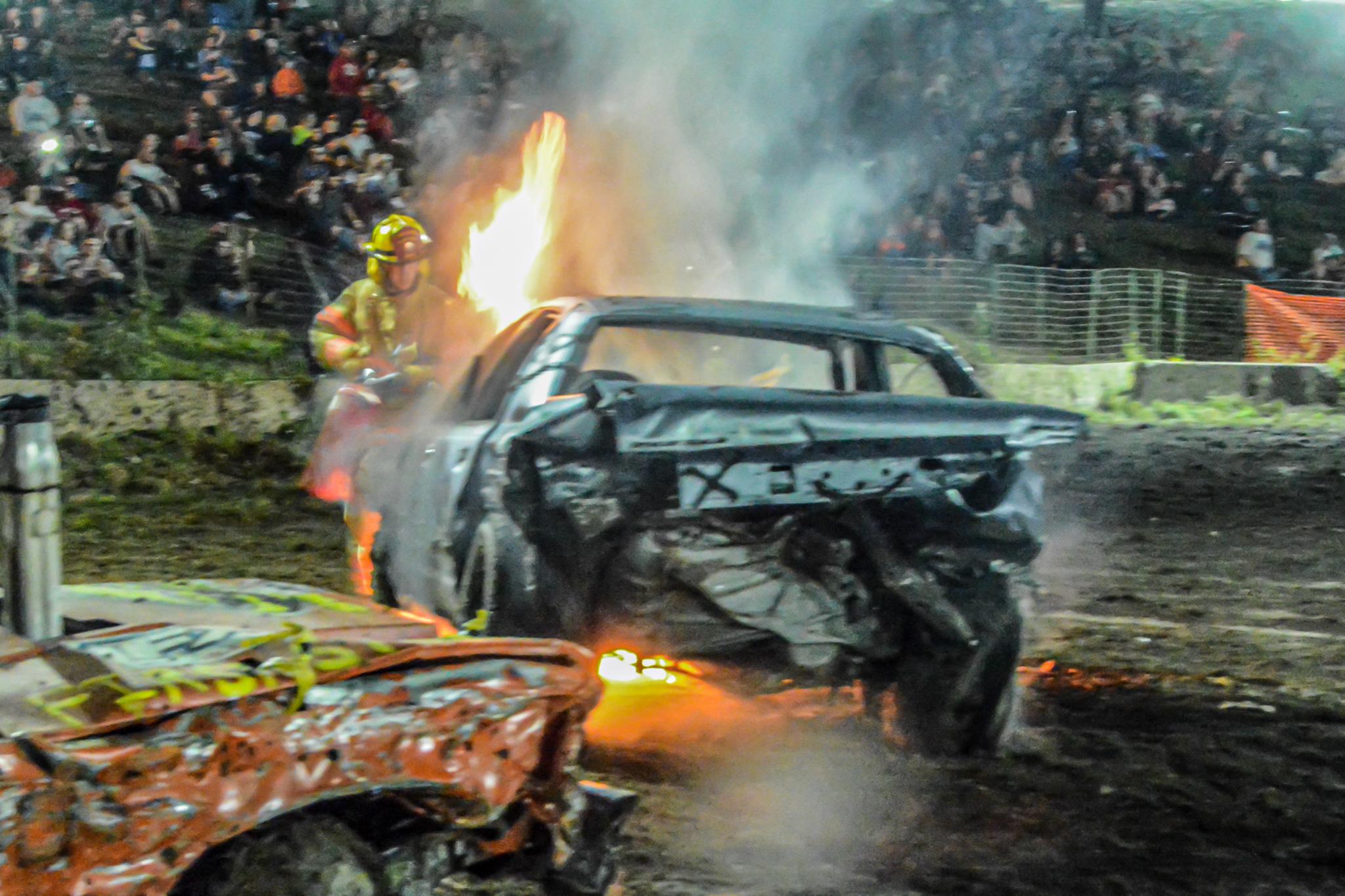 Demolition Derby at the Cummington Fairgrounds - 2017