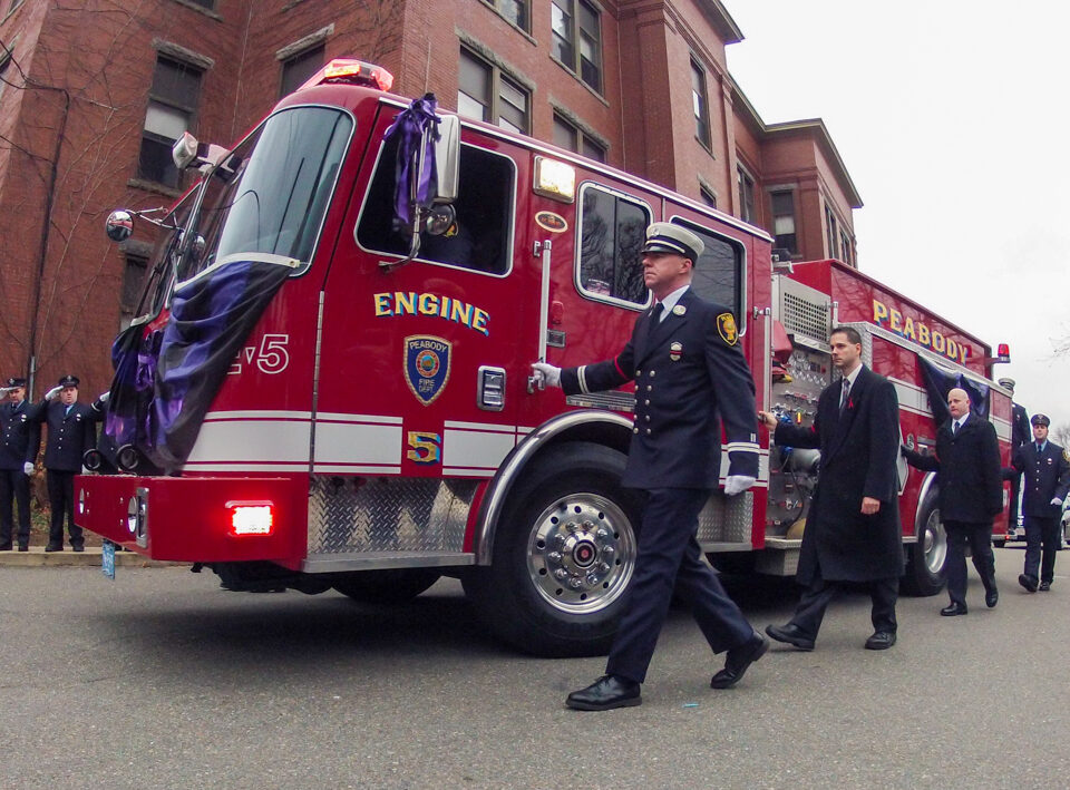 Funeral for Peabody MA Firefighter Jim Rice