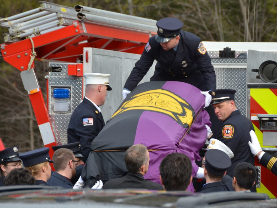 Funeral for FF Jack Rose, Mt. Marion Fire Department