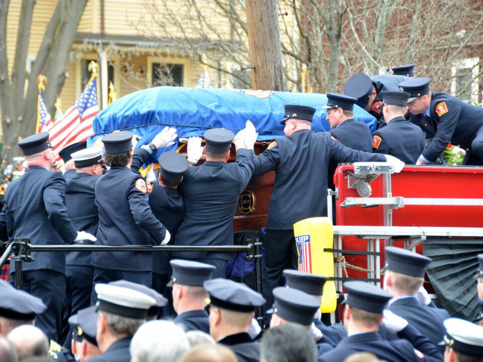 Boston Fire Lt. Edward Walsh Funeral