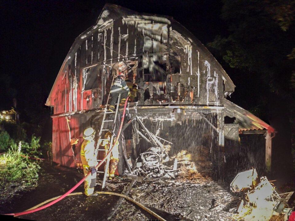 74 Petticoat Hill Road Barn Fire, Burgy