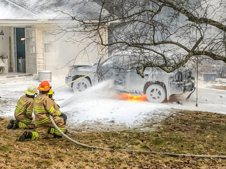 Car Fire - 101 S. Chesterfield Road