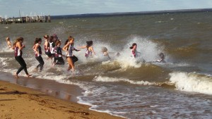 Washington College Girls Lacrosse plunging in the water