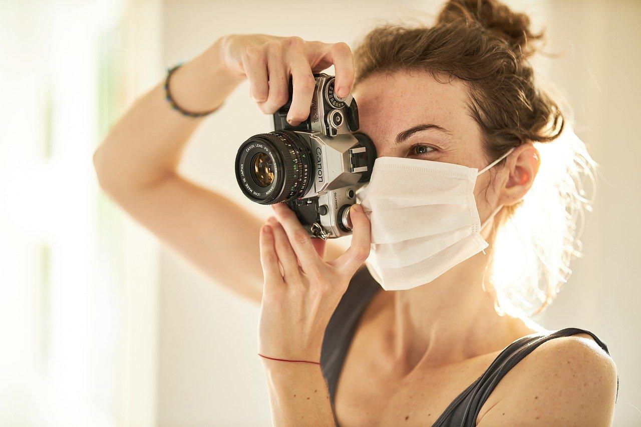photographer, coronavirus, mask