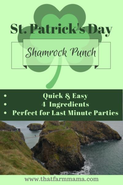 St. Patrick's Day Shamrock Punch