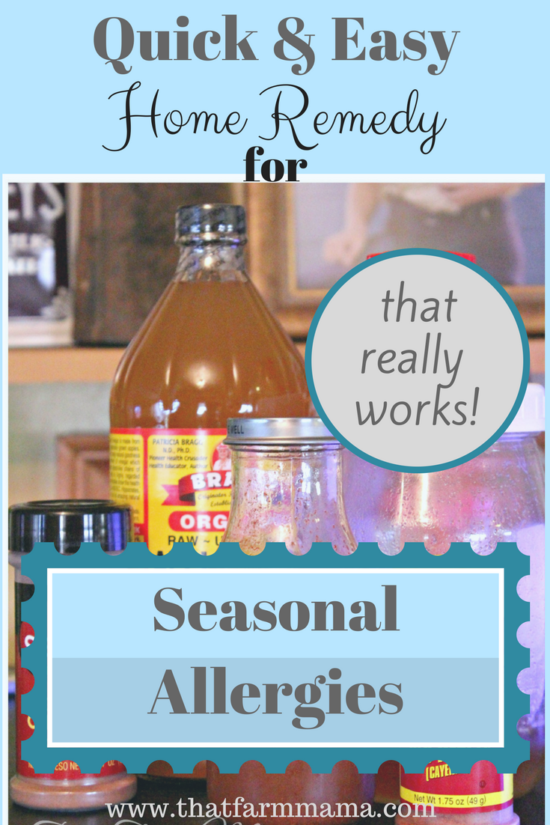 home remedy seasonal allergies