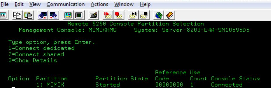 connecting to an IBM i system console