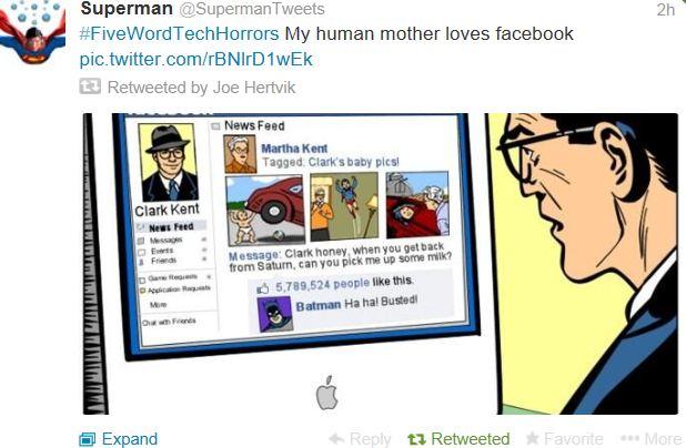 supermantweets screen shot