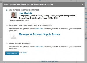 linkedin--what others see when youve viewed their profile