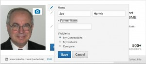 LinkedIn--Changing your user profile name--4-22-14