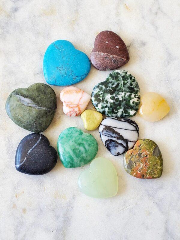 Healing Gemstone Hearts