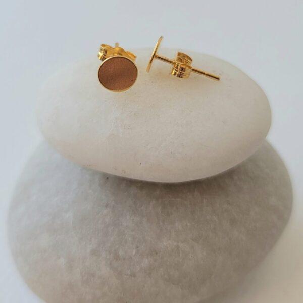 Dot stud earrings 18kt/sterling