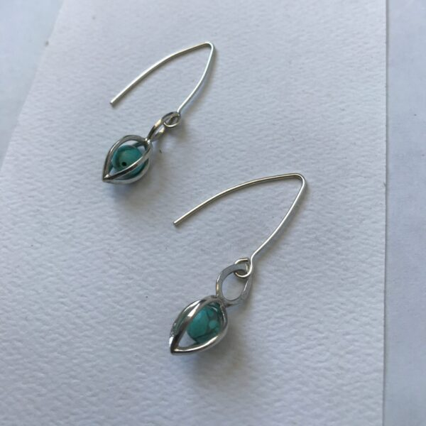Gem Pod Healing Gemstone Turquoise Sterling Silver