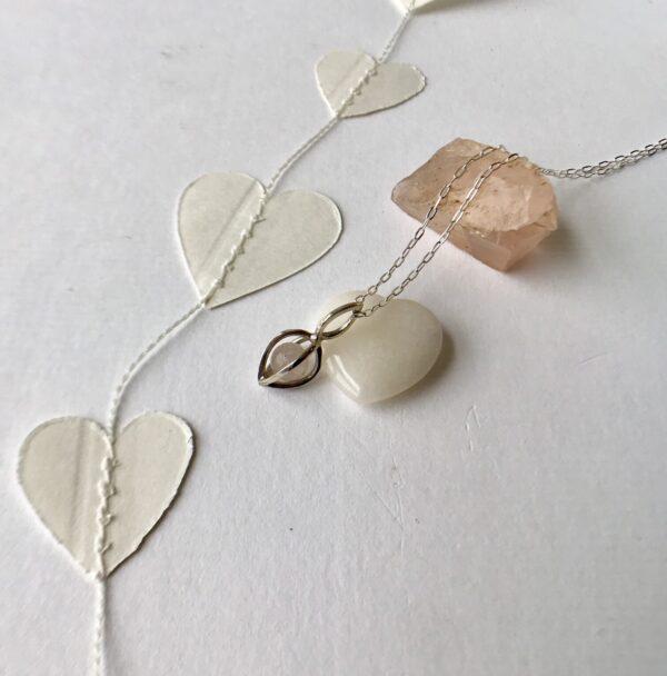 rose quartz Gem Pod Necklace