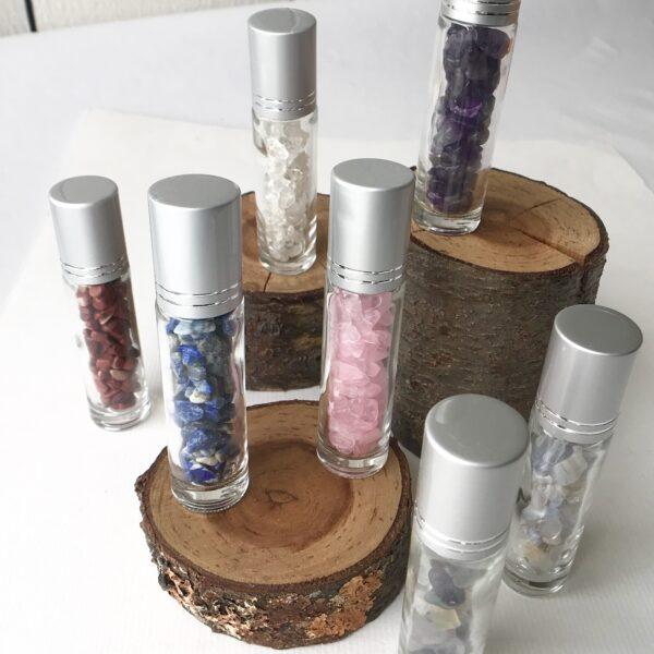 Healing Gemstone Essential Oil Roller Bottles