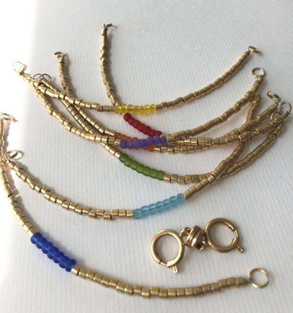 Chakra/Pride Interchangeable Add-On Bead Bracelet
