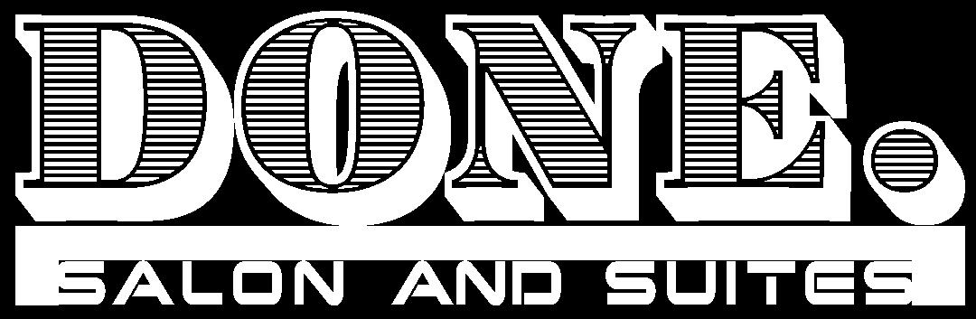 Done Hair Salon White Logo