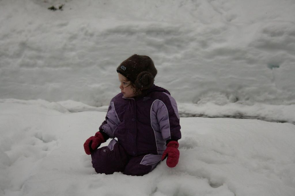 A cute snow toddler -A sweet adventure