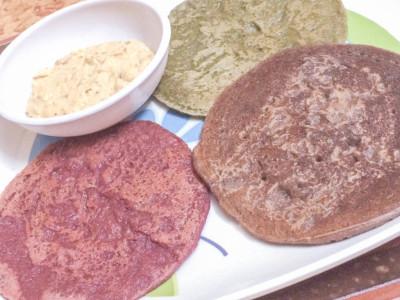 Tricolour pancakes