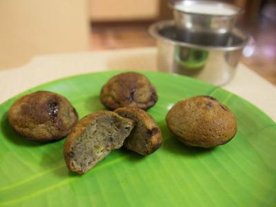 Black Snack-Kambu karupatti paniyaram