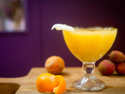 Sunshine Mocktail – Peach,Lychee,Mandarin and lemon