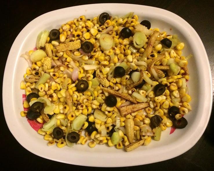Burnt Corn salad